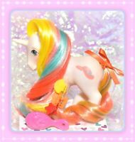 ❤️My Little Pony MLP G1 Vtg Bouquet Brush 'n Grow White Unicorn Hat LONG Hair❤️