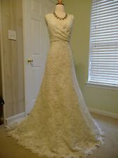J CREW NEW WITH TAG, SARA LACE GOWN, 94389, IVORY, SIZE 14, $2,200