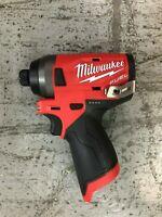 Milwaukee 2553-20 M12 FUEL Li-Ion Brushless 1/4 Hex Cordless Impact Driver NEW