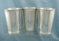 Set of 3 Vintage Sterling Silver Mint Julep Cup 3759 by Manchester, No Monogram