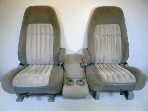 GMC 88-94 CHEVROLET SILVERADO SUBURBAN TAHOE SIERRA YUKON BUCKET SEATS OEM GRAY