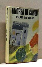 DUE DI DUE - a.de cARLO [Libro,1°edizione, CDE su licenza mondadori, 1990]
