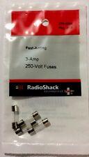 RADIOSHACK 3-Amp 250V 5X20MM FAST-ACTING GLASS FUSE (4-PACK) #270-1054  NEW