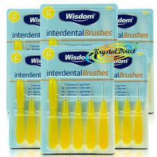 6x cepillos Oral Cuidado sabiduría Interdental Amarillo 0.7 mm fino elimina Placa