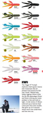 RAPALA TRIGGER X 2 inch NYMPH - Variety of Colours 8 pieces per pack