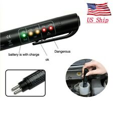 US Universal Car Brake Fluid Oil Liquid Tester 5 LED Testing Pen Diagnostic Tool