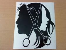 LARGE hairdressers hair salon unisex shop front window vinyl sticker wall art