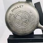 Vintage Griswold #3 Nickel Chrome Plated Large Block Logo Cast Iron Skillet 709