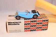 Western models 11 Jaguar SS 100 1938 Blue 3.5 litre 1:43 perfect mint in box