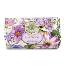 Michel Design Works Large 8.7 oz Artisanal Bar Bath Soap Rhapsody Purple Floral