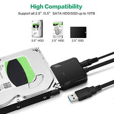 "SATA to USB 3.0 Adapter Cable Converter 2.5/3.5"" SATA Hard Drive SDD HDD w/ UASP"