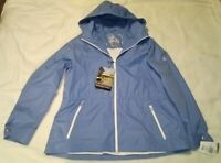 Women's XXL Weather Proof Hooded Jacket Zero Xposur Blue Full Zip NWT  SRP $70