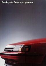Toyota Programm Prospekt 4/86 1986 Autoprospekt Broschüre Supra Celica MR2 HiAc