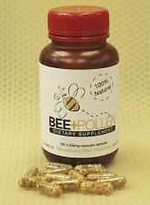 100% Natural Pure New Zealand Bee Pollen - 500mg (100 capsules)