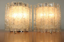 Doria Wall Lamps Sconces With Pull Switch Crystal Glass Tubes Chrome #2/2