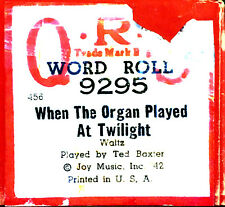 Qrs Word Roll When The Organ Played At Twilight Baxter 9295 Player Piano Roll