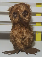 LOVINGLY HAND CRAFTED OWL UNIQUE AND UNUSUAL SOFT PLUSH TOY APPROX 27CM TALL