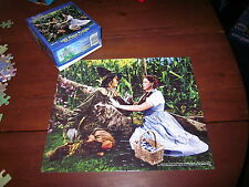 """WIZARD OF OZ jigsaw-puzzle Scarecrow & Dorothy movie still """"If I Only Had Brain"""""""