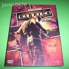 LAS CRÓNICAS DE RIDDICK DVD NUEVO Y PRECINTADO FUNDA DE CARTÓN