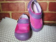 Crocs Pink Purple Leather Mesh Sports Water Shoe Girls Kids Child 9 Cute!  301