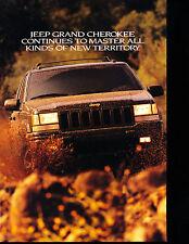 1996 Jeep Grand Cherokee Limited Sales Brochure Promo