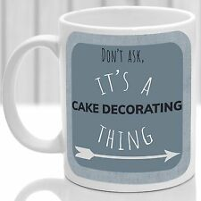 Cake Decorating thing mug, Ideal for any Cake Decorater (Blue)