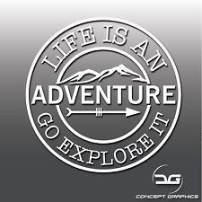 La vita è un'avventura Portatile Camper Van Auto Finestra Adesivo decalcomania in vinile PARAURTI