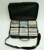 Lot of 30 Vintage 70s 80's Country Cassette Tapes w/ Carrting Case