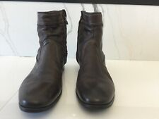 paul smith men's boots dark brown dip dyed side zip kasmin size 8
