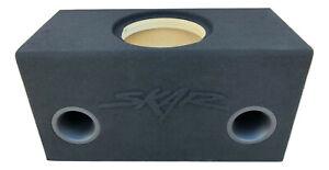 "Custom Ported Sub Box Enclosure for 1 12"" Skar Audio ZVX-12 with RAISED LOGO"
