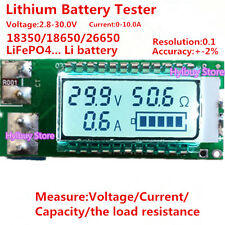 Lithium Li-ion Acid battery tester LCD meter Voltage/Current/Capacity/ 18650