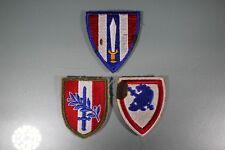 US WW2 European Civil Austrian & School. 3 Patch Lot. Cut Edge OA188