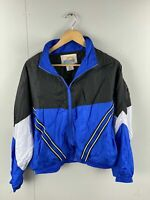 Solare Sporta Vintage Women's Full Zip Track Suit Jacket Size L Blue/White/Black