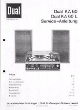 Dual Service Manual für KA 60/L