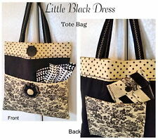 LITTLE BLACK DRESS TOTE BAG / PURSE KIT - Incl Pattern & all Moda Fabric