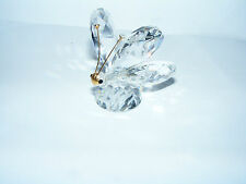 """Swarovski    Large   Butterfly   Gold   Mask   Swan   Logo  Height   2""""  Inches"""