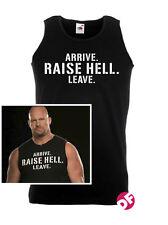 Steve Austin Vest Arrive Raise Hell Leave Vest Gym Slip Stone Cold WWE WWF TV