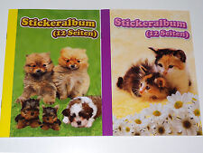 2 x A5 Stickeralbum Stickerheft für Sticker Album Aufkleber Leer Hund Katze Tier