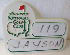 AUGUSTA NATIONAL GOLF CLUB PLASTIC CADDIE BADGE