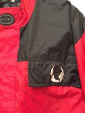 BELSTAFF Racing Full Zip Jacket Red Black Mens Size Extra Large