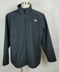 Mens The North Face Apex Windwall Jacket Charcoal Gray 4XL