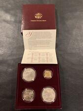 1996 Us Mint Atlanta Olympic Games Four Coin Set w/ Cauldron Gold $5 Coin Rare