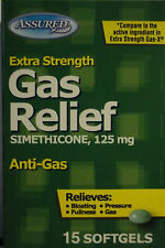Assured Extra Strength Gas Relief Simethicone, 125 mg Anti-Gas Relieves Bloating