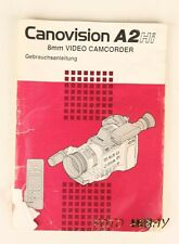 Canovision A2 Hi 8 Video Camcorder nu Bedienungsanleitung deutsch 02169