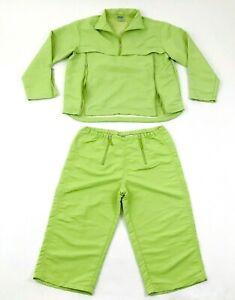 VINTAGE Nike Track Suit Women's Size Medium 8-10 Green Jacket Pants Pullover 90s