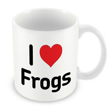 I Love FROGS Mug Heart Gift Idea Christmas Funny Coffee