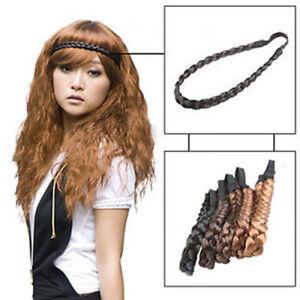 Womens Braided Synthetic Head band Hair Plaited Fishtail Elastic Alice Hairband