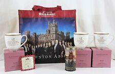 2015 Downton Abbey Complete Set 3 Tea Cup Bag w Castle Earl Legacy Tea Canister