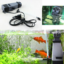New EU Aquarium Plant Marine Oil Protein Skimmer Fish Tank Water Air Pump Filter