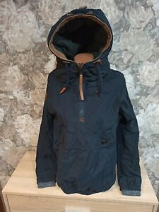 Naketano Women's  jacket blue Color size M hooded excellent